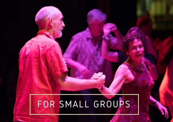 Private Latin dance lessons for small groups