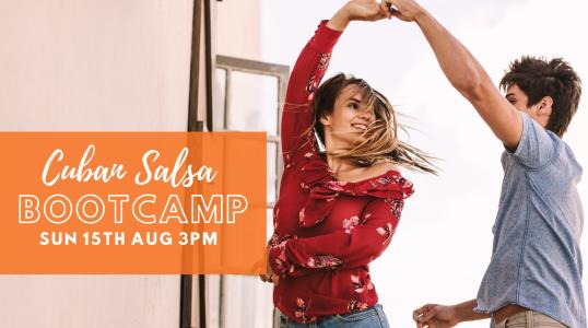 15th Aug Cuban Salsa Bootcamp